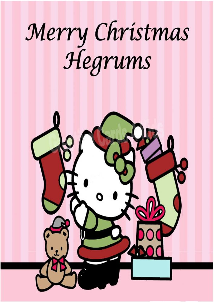 Personalised Hello Kitty Christmas Card 3